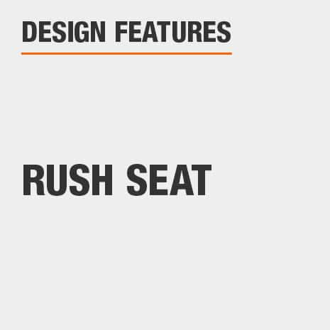 Dining Chair Set with Rush Seat