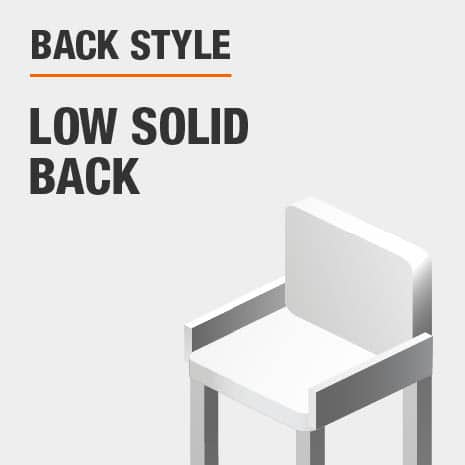 Back Style Low Solid Back