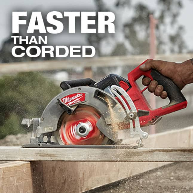 Faster cutting speed than corded competitors