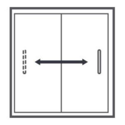 Passage Reversible Shower Door Opening