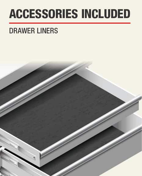 Accessories include for this product are Drawer Liners