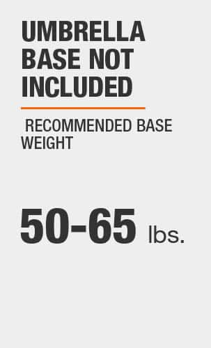 Umbrella Base Not Included, Recommended Base Weight (lbs.)