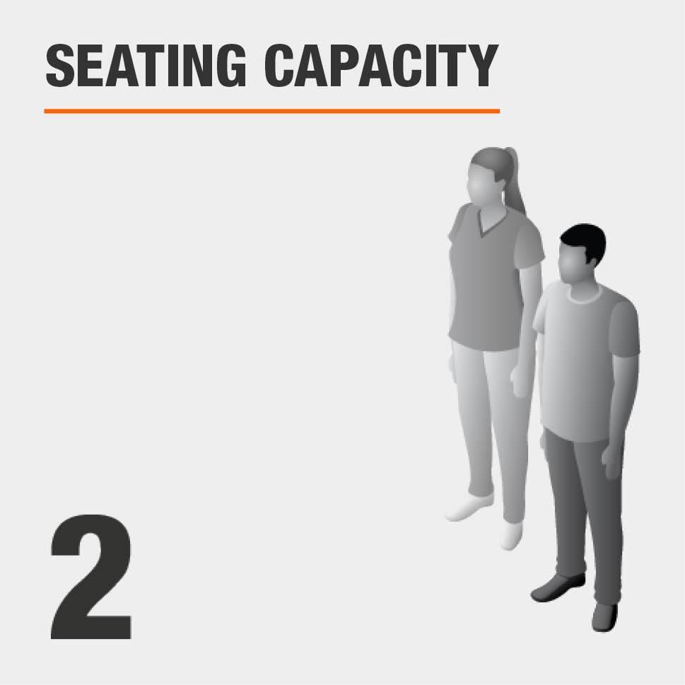 Seating Capacity Seats 2 People