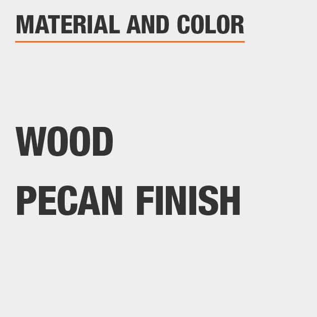 Pecan Finish Wood Round Dining Table