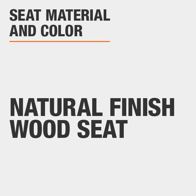 Blank with Natural Finish Wood Seat