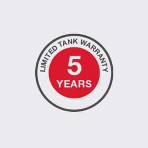 Limited Five Year Warranty