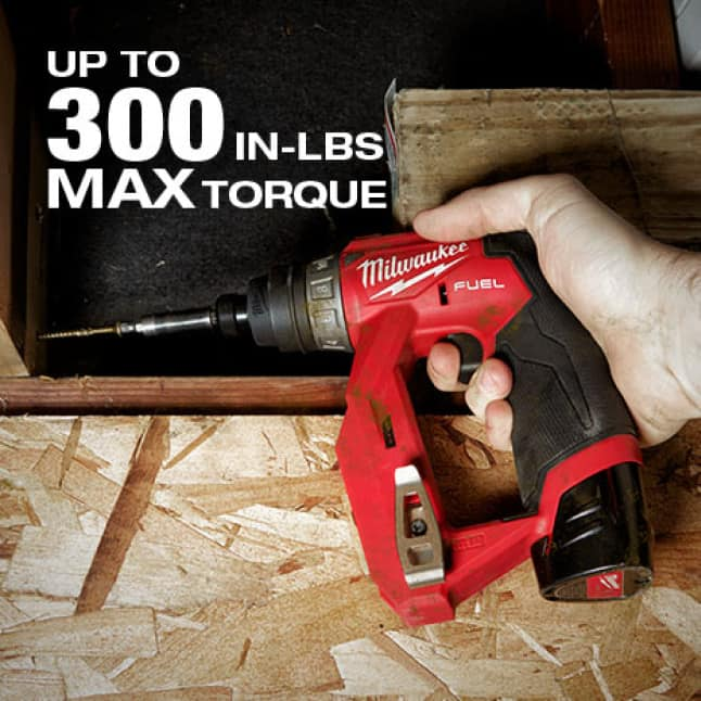 Milwaukee built POWERSTATE Brushless Motor delivers 1,600 RPMs and 300 in lbs., ensuring maximum productivity