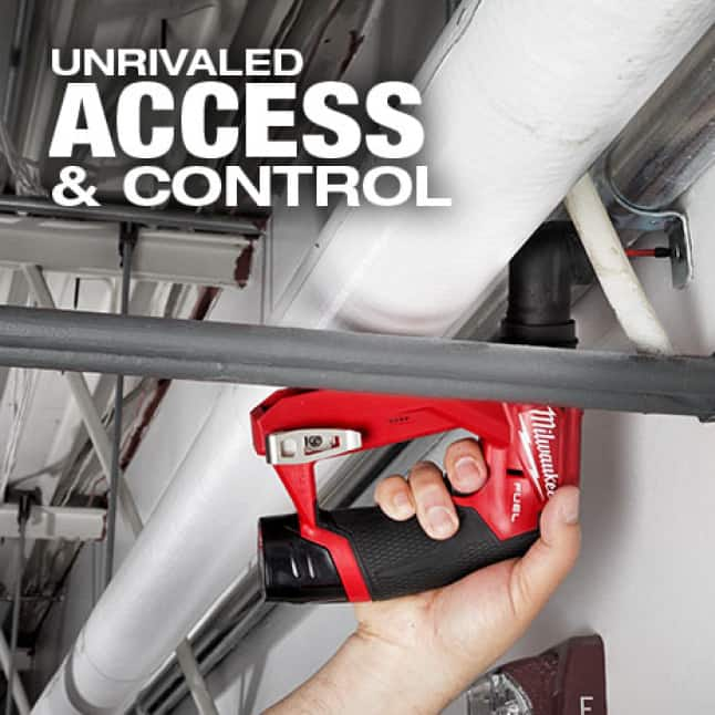 This drill/driver's unique design provides unrivaled access maneuvering in hard to reach spaces