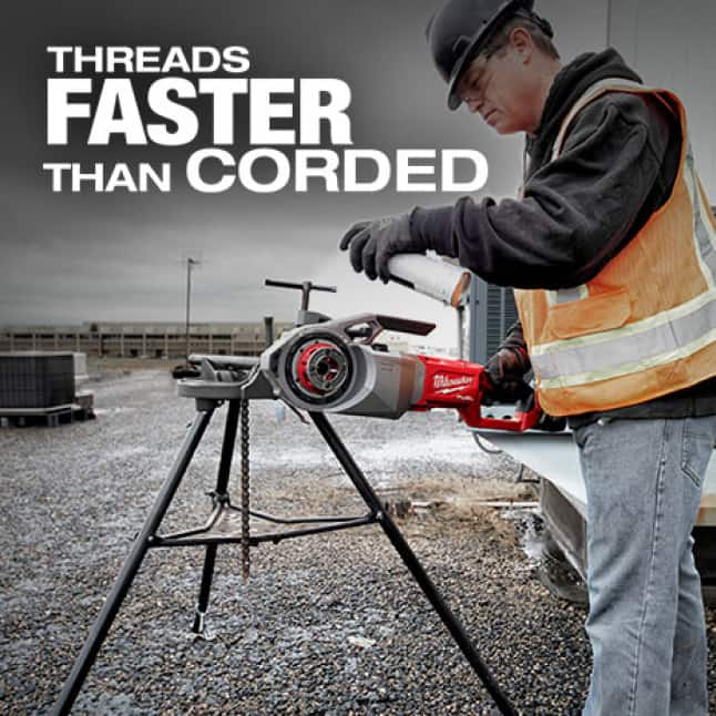 Threading faster allows for unmatched productivity. Multi-speed selector optimizes thread quality across pipe sizes