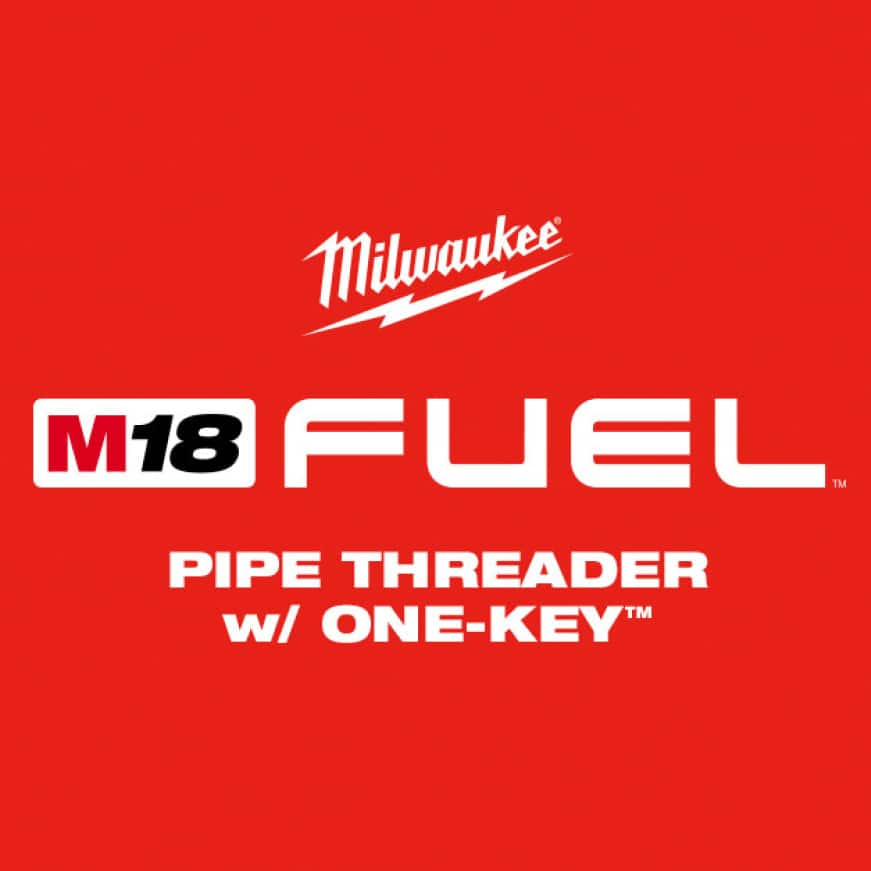 The M18 FUEL Pipe Threader w/ ONE-KEY is the industry's first cordless pipe threader, revolutionizing the pipe threading process