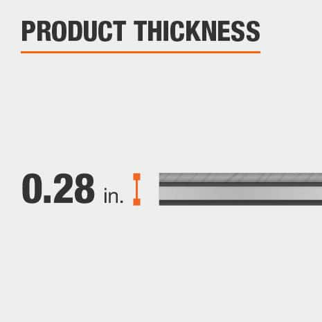LifeProof bamboo flooring has a thickness of 0.28 in.