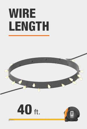 This string light is 40 feet long.
