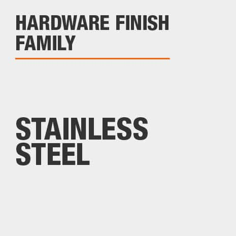 Hardware Finish Family is Stainless Steel