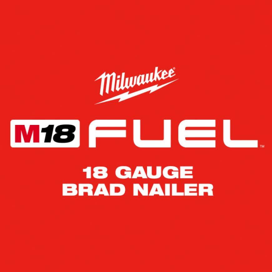M18 FUEL 18 Gauge Brad Nailer rivals the performance of pneumatic 18 gauge brad nailers
