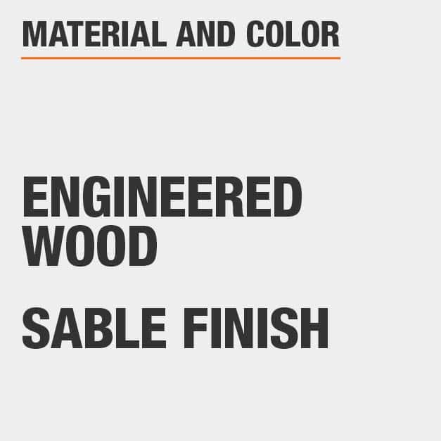 Sable Finish Engineered Wood Coffee Table