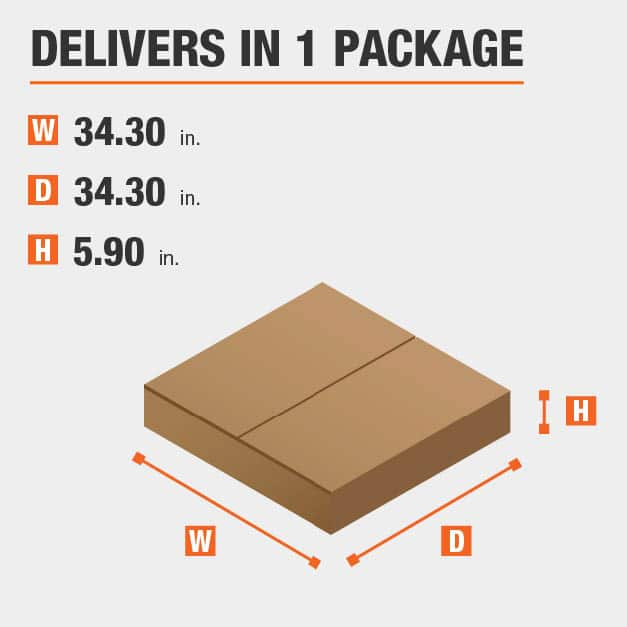 Package Dimensions 34.3 inches wide 5.9 inches high
