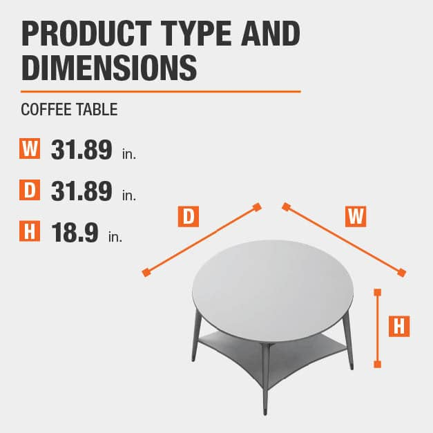 Coffee Table Product Dimensions 31.89 inches wide 18.9 inches high
