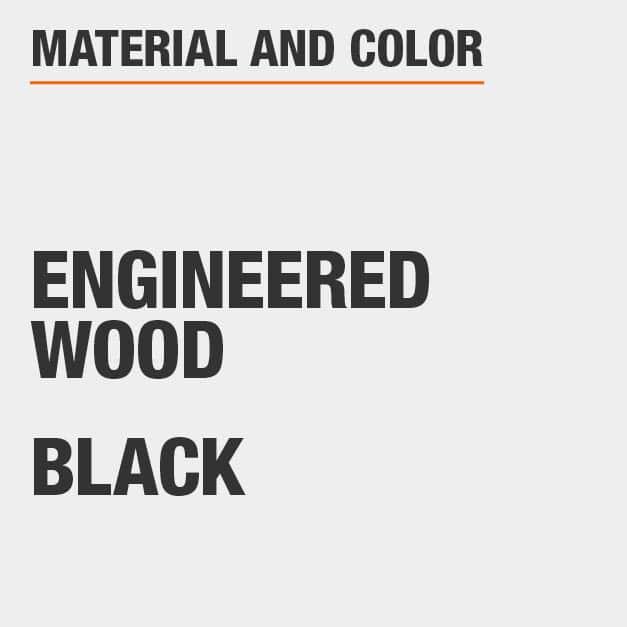 Black Engineered Wood End Table