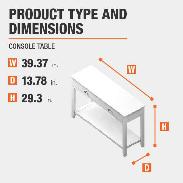 Console Table Product Dimensions 39.37 inches wide 29.3 inches high
