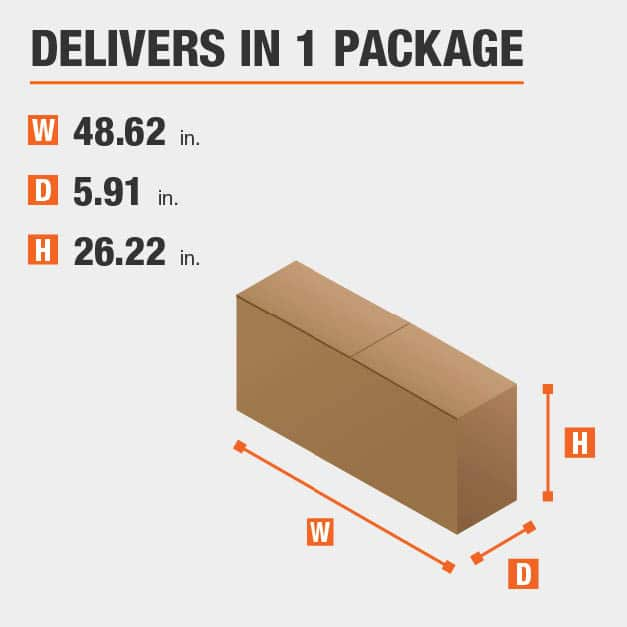 Package Dimensions 48.62 inches wide 26.22 inches high