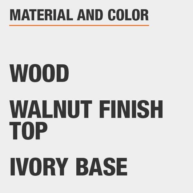 Walnut Finish Top Wood Coffee Table