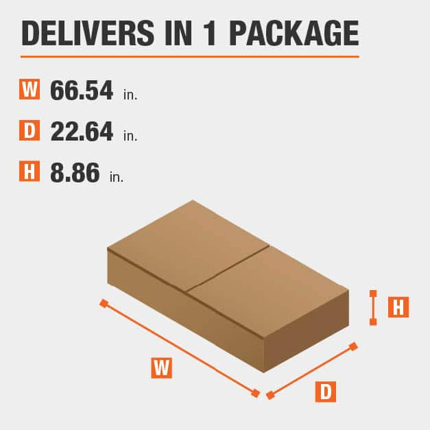 Package Dimensions 66.5354330708661 inches wide 8.85826771653543 inches high