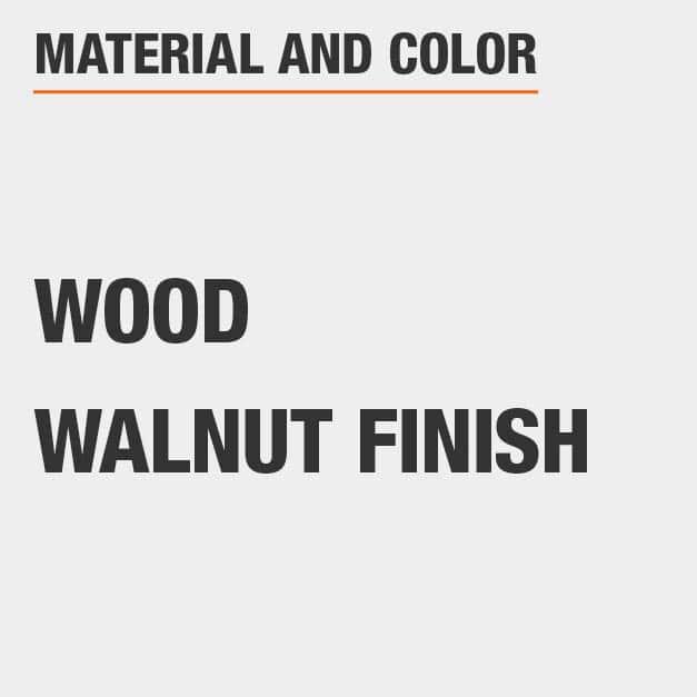 Walnut Finish Wood TV Stand