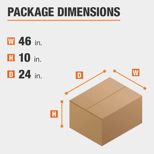 Writing Desk Package Dimensions 46 inches wide 24 inches high