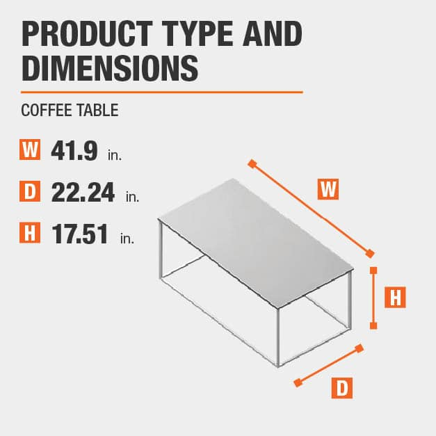 Coffee Table Product Dimensions 41.9 inches wide 17.51 inches high