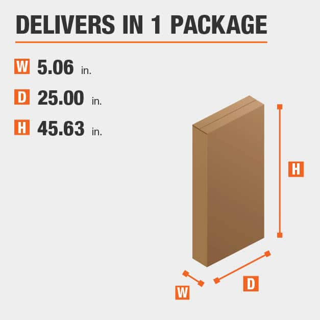 Package Dimensions 5.0625 inches wide 45.625 inches high