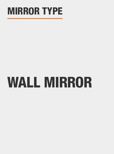 Décor mirror is a wall mirror that can be hung or mounted on a variety of wall types and surfaces
