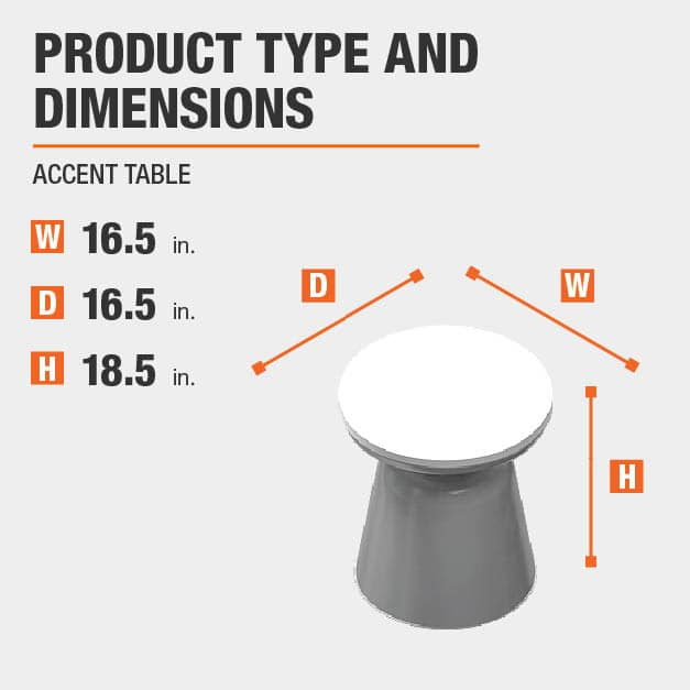 Accent Table Product Dimensions 16.5 inches wide 18.5 inches high