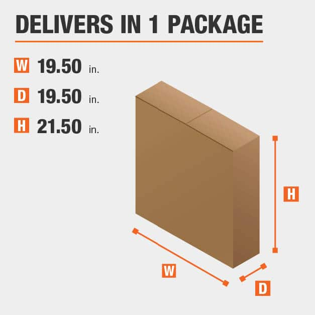 Package Dimensions 19.5 inches wide 21.5 inches high