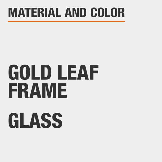 Glass Gold Leaf Frame Console Table