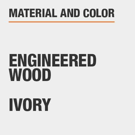 Ivory Engineered Wood Glass Door Bookcase