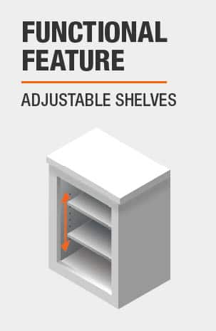 Bookcase with File Drawers features Adjustable Shelves
