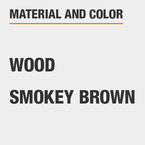 Smokey Brown Wood File Cabinet