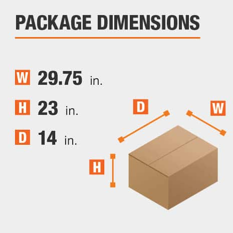 File Cabinet Package Dimensions 29.75 inches wide 14 inches high
