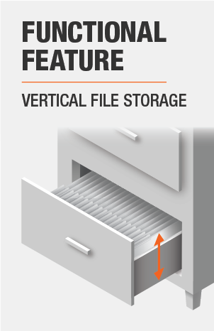File Cabinet features Vertical File Storage