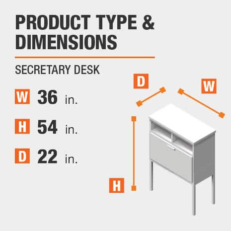 Secretary Desk Product Dimensions 36 inches wide 54 inches high