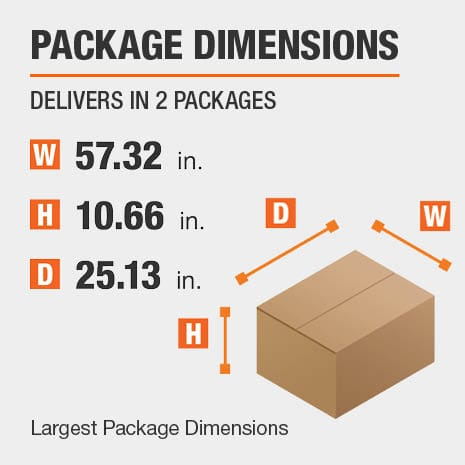 Secretary Desk Package Dimensions 57.32 inches wide 25.13 inches high