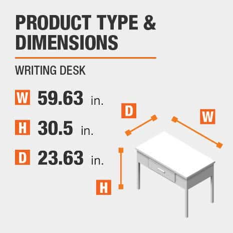 Writing Desk Product Dimensions 59.63 inches wide 30.5 inches high