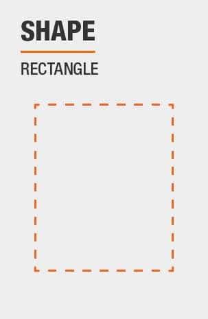 Writing Desk has a Rectangle shape