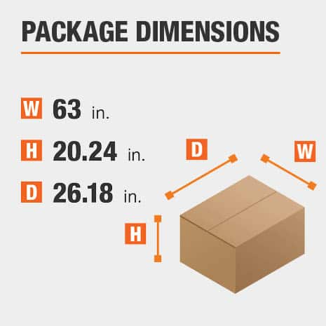 Writing Desk Package Dimensions 63 inches wide 26.18 inches high
