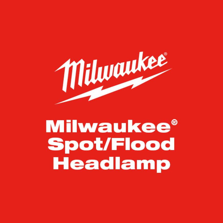 Milwaukee Spot/Flood Headlamp delivers multiple beam options in a compact, lightweight design.
