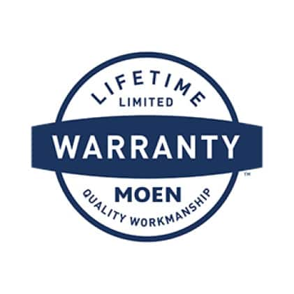 Backed up by Moen's Limited Lifetime Warranty for durability.