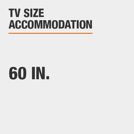 TV Stand  accomodates 60 tv