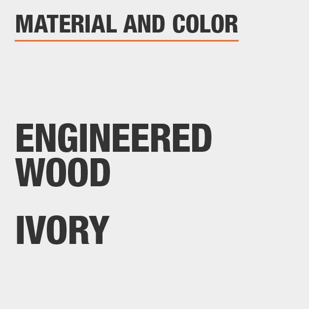 Ivory Engineered Wood End Table