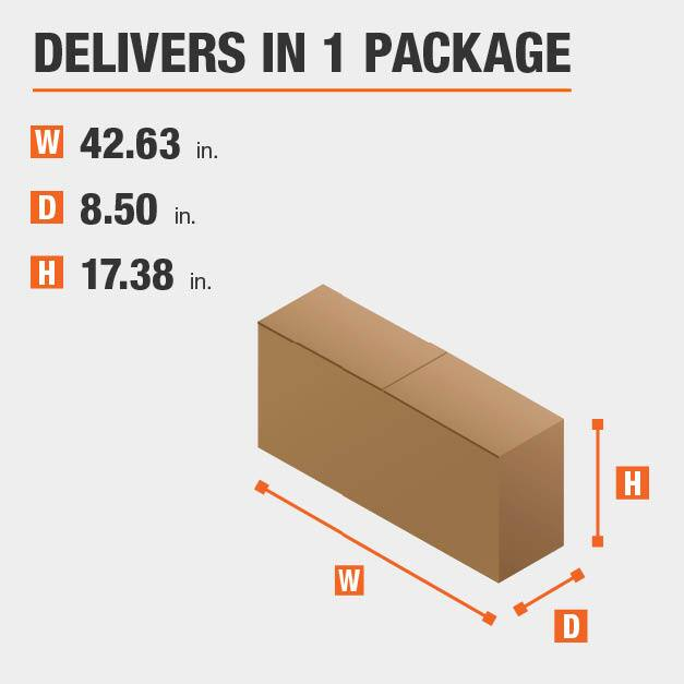 Package Dimensions 42.625 inches wide 17.375 inches high