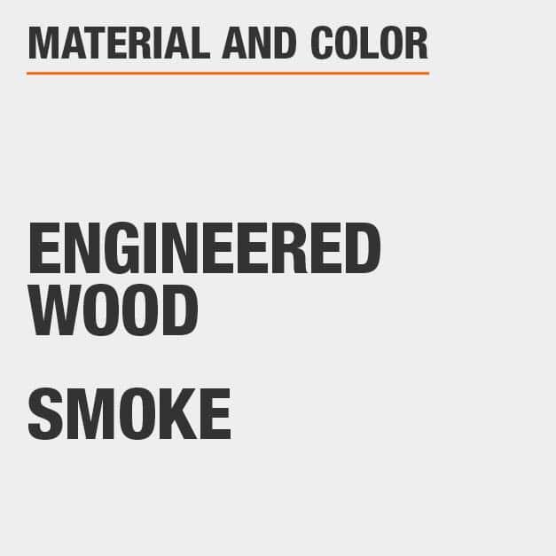 Smoke Engineered Wood End Table